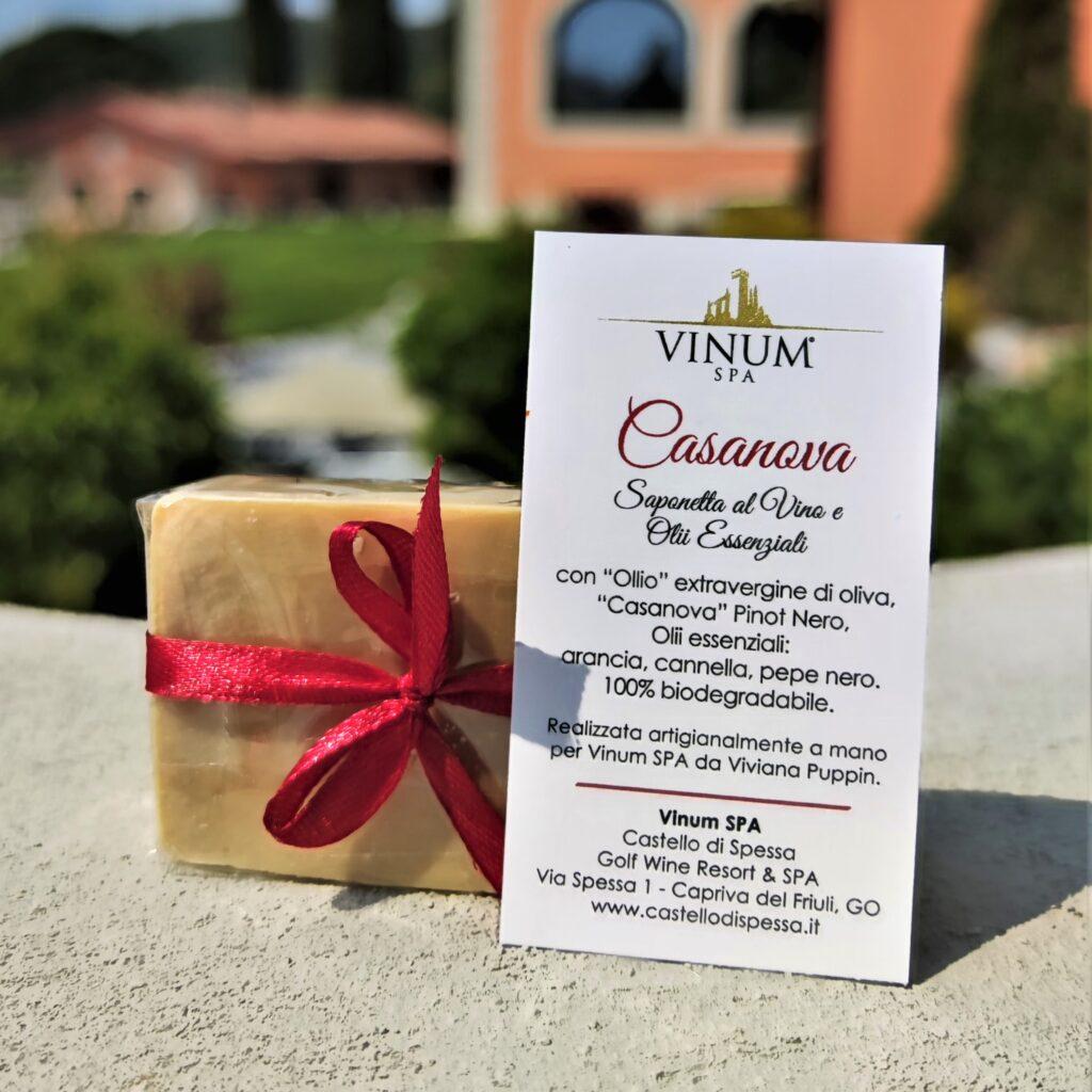 Seifen aus Wein und ätherischen Ölen aus dem Vinum SPA von Castello di Spessa